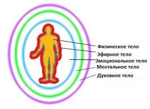 физическое астральное ментальное тело корзину