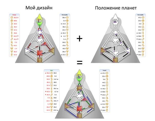 Расчет карты дизайн человека на русском языке