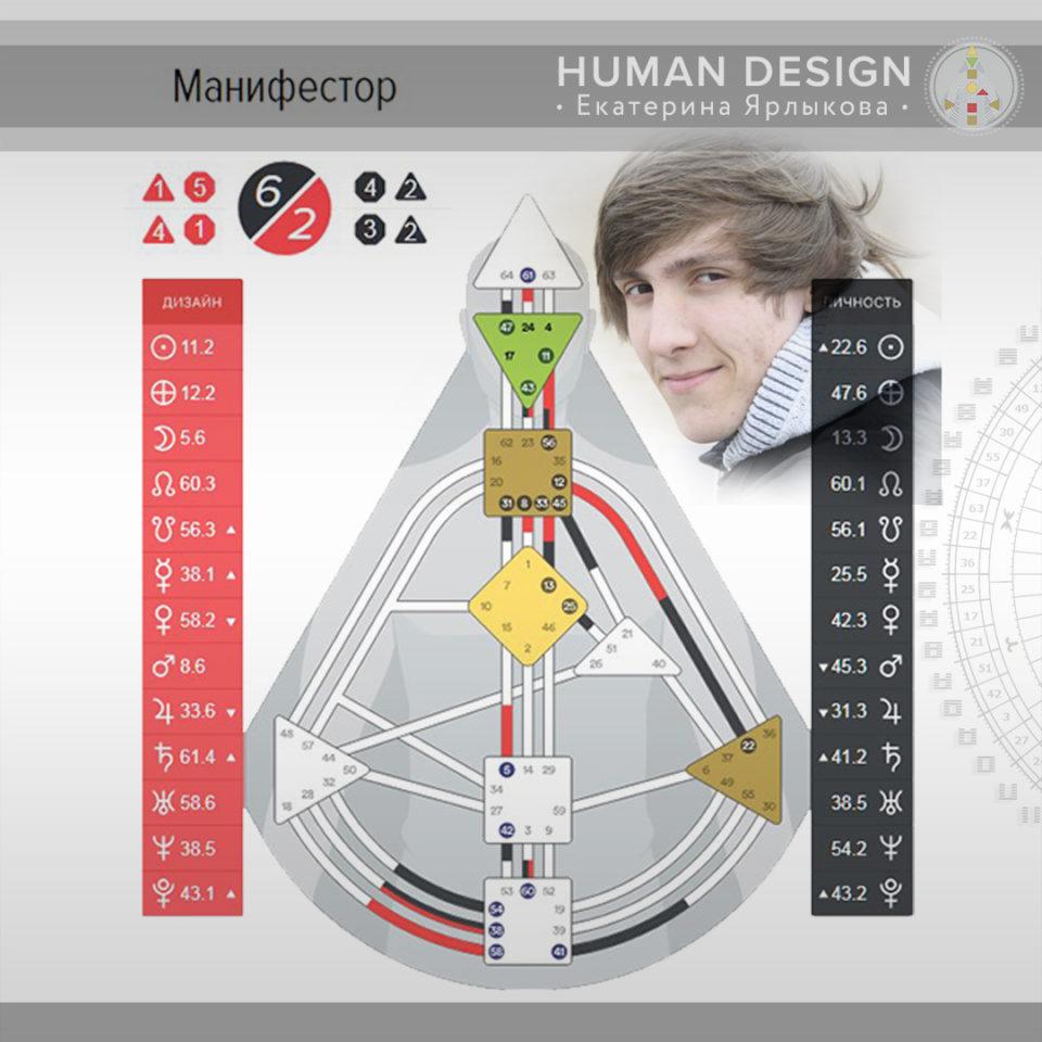 манифестор дизайн человека профиль 6 2