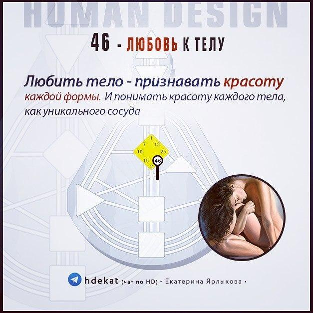 46 Ворота Любви — Любовь к Телу (Human Design)