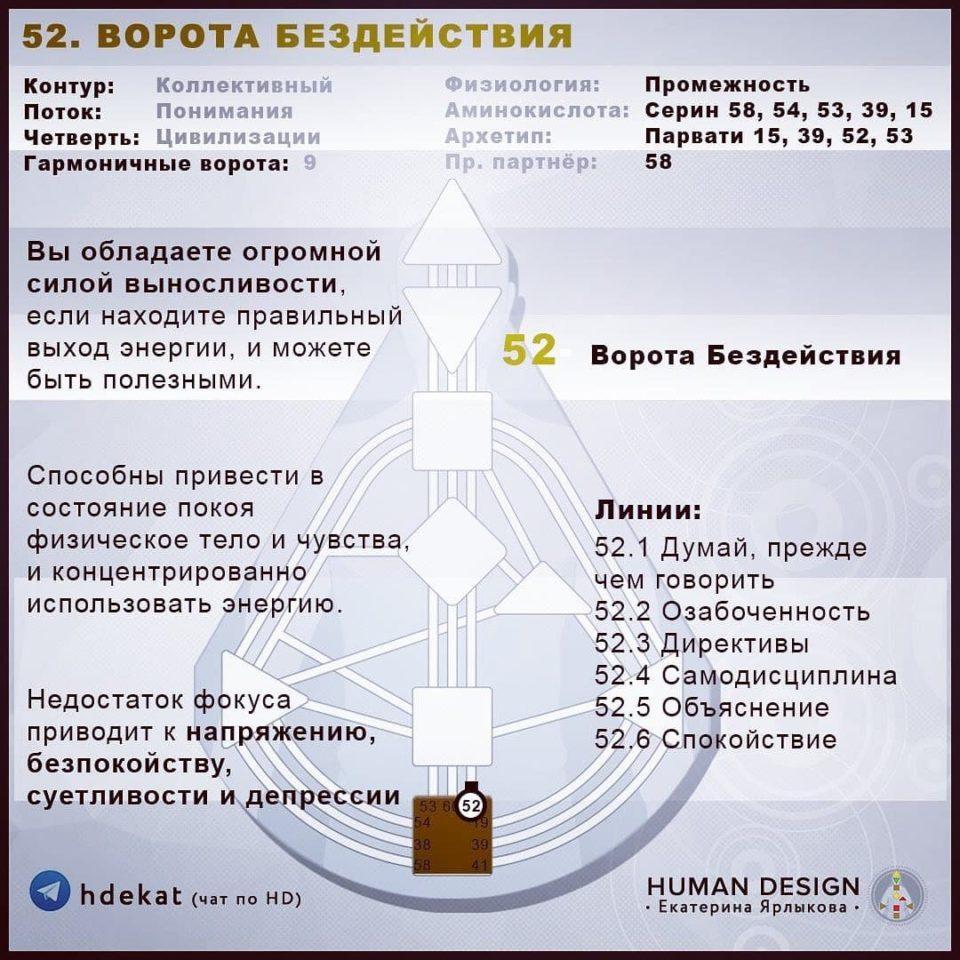 52 Ворота в Дизайне Человека. 52 ВОРОТА БЕЗДЕЙСТВИЯ — Human Design
