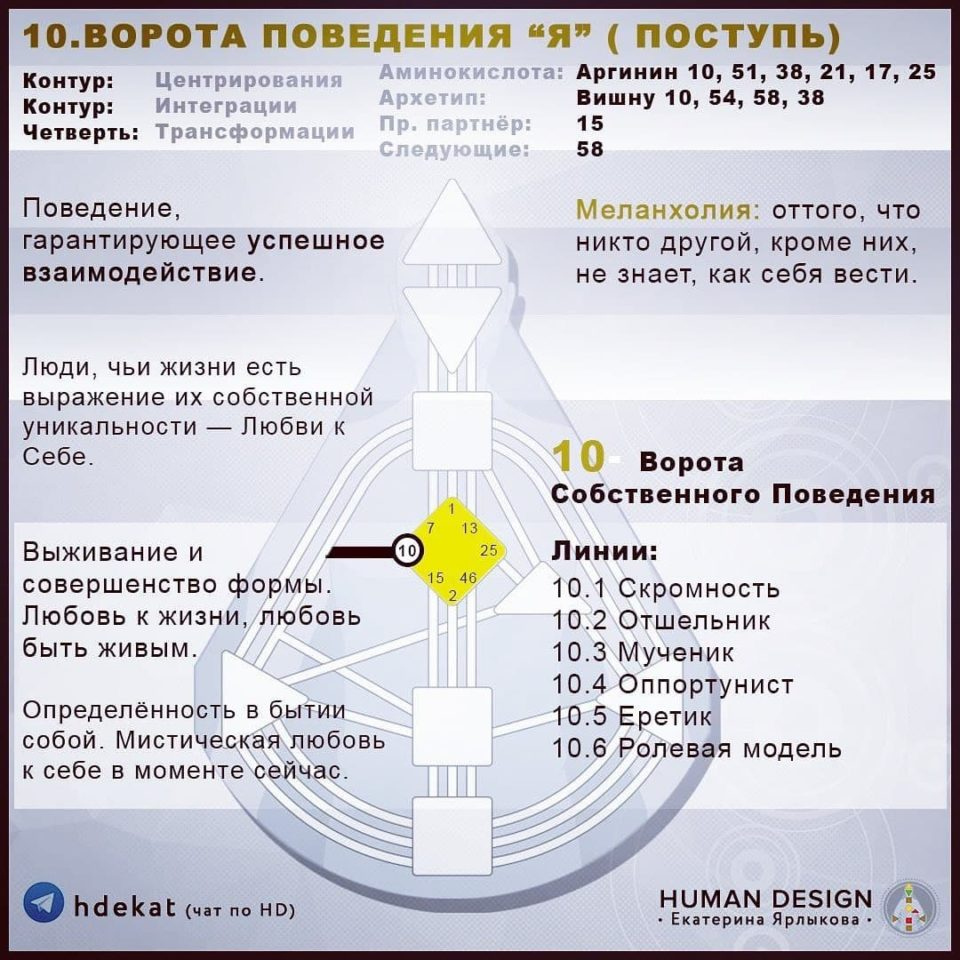 10 Ворота в Дизайне Человека. 10 ВОРОТА ПОВЕДЕНИЯ «Я» — Human Design