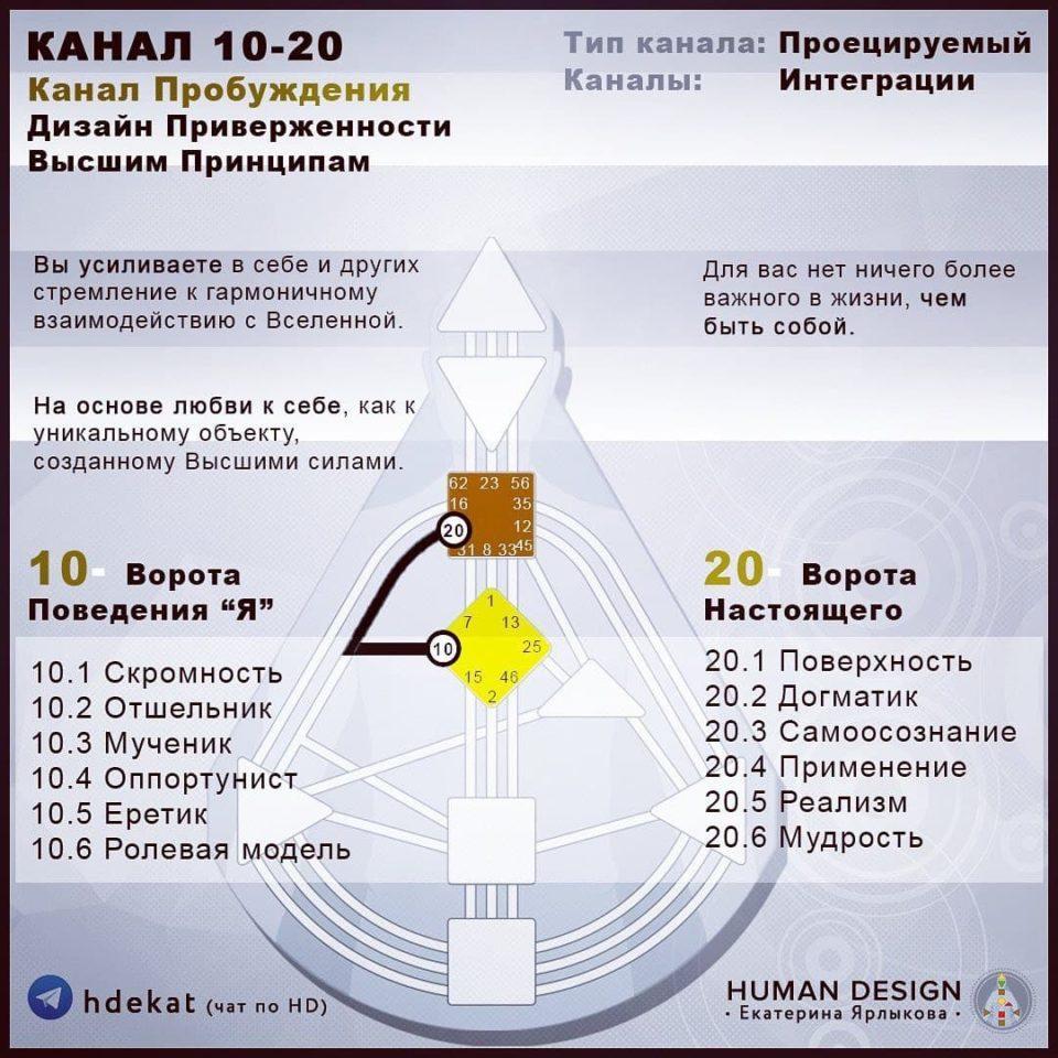 10-20. Канал в Дизайне Человека. 10-20 Канал Пробуждение — Human Design
