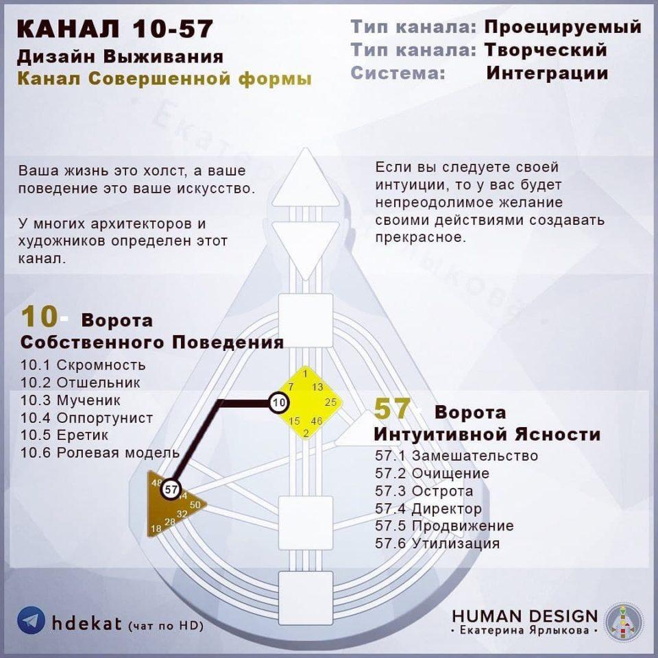 10-57. Канал в Дизайне Человека. 10-57 Канал Совершенная Форма — Human Design