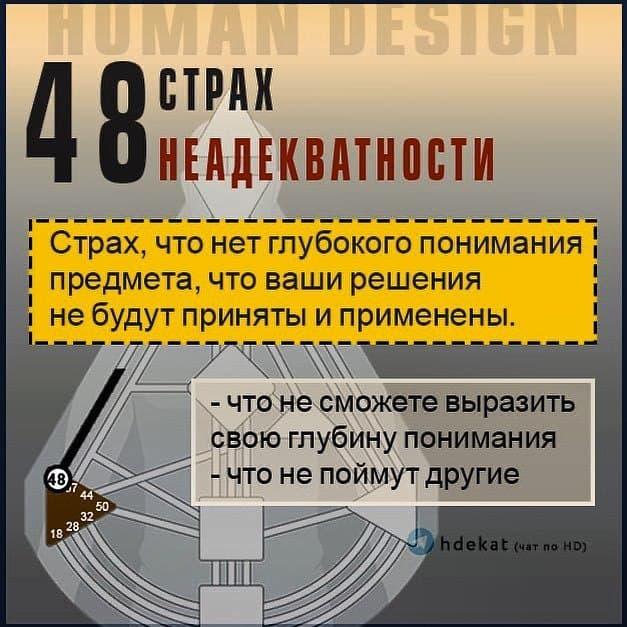 48 Ворота — Страх Неадекватности в Дизайне Человека (Human Design)